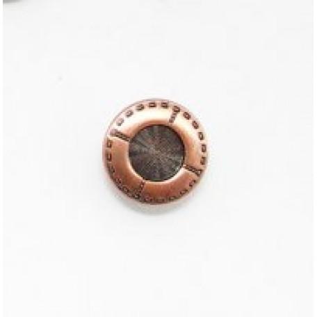 Пуговицы джинсовые арт.TBX-YN0136 материал латунь 17мм цв.кр.бронза