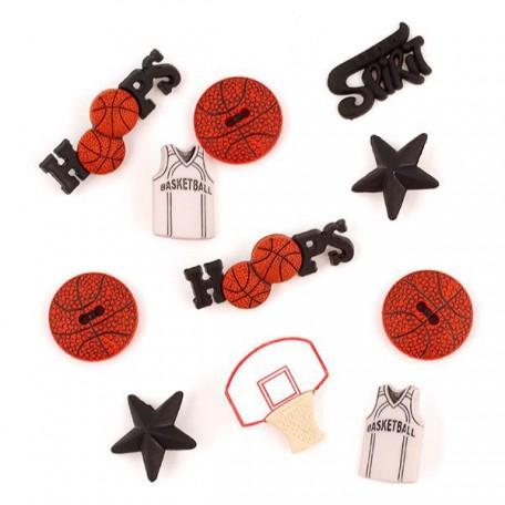 Декоративные элементы JESSE JAMES арт.0421 'Баскетболл'