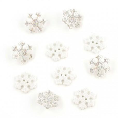 Декоративные элементы JESSE JAMES арт.4224 Мерцающие снежинки