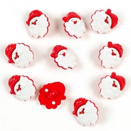 Набор пуговиц 'Дед Мороз'арт. Р5681 для скрапбукинга, пластик 12шт