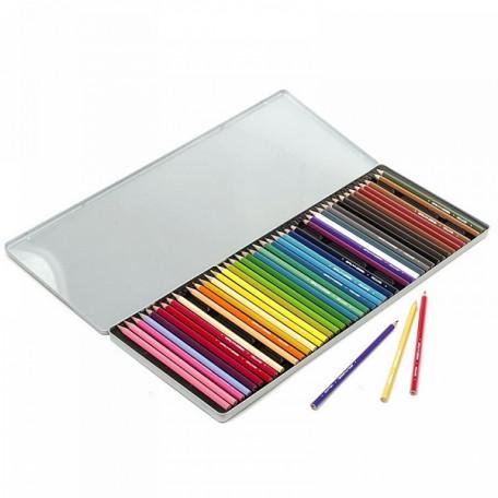 Набор цветных карандашей 'Черепаха' арт.МРМ.5011M45 45цв в металлической коробке