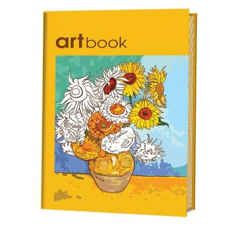 Записная книга-раскраска ARTbook. Импрессионизм (желтая) ISBN 978-5-91906-621-7 ст.24 арт.6217