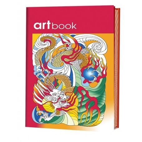 Записная книга-раскраска ARTbook. Китай (красная) ISBN 978-5-91906-622-4 ст.24 арт.6224