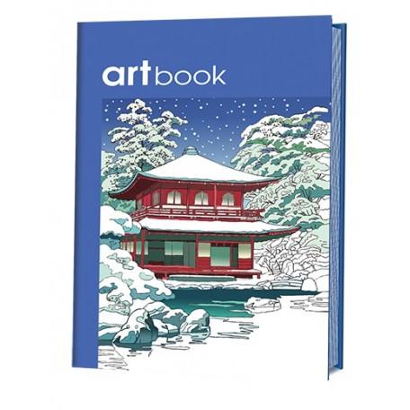 Записная книга-раскраска ARTbook. Япония (синяя) ISBN 978-5-91906-620-0 ст.24 арт.6200