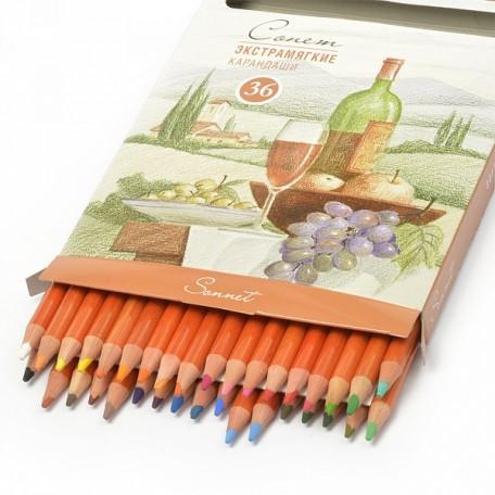 Набор экстрамягких карандашей Сонет арт.НП.13441623 уп.36 цвета