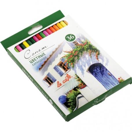 Набор профессиональных цветных карандашей Сонет арт.НП.13141434 уп.36 цветов