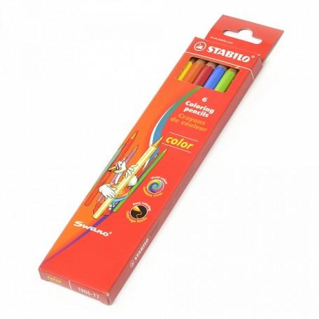 Набор цветных карандашей STABILO арт.STB.1906.77 уп.6 цветов ДЕЙСТВУЕТ СКИДКА 30%