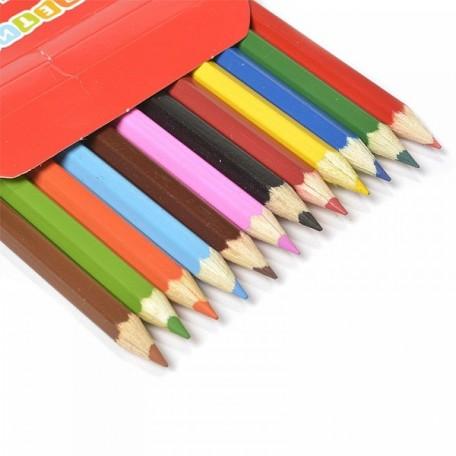 Набор шестигранных карандашей арт.НП.3741067 'Цветик' 2М-4М заточенные 12 цветов
