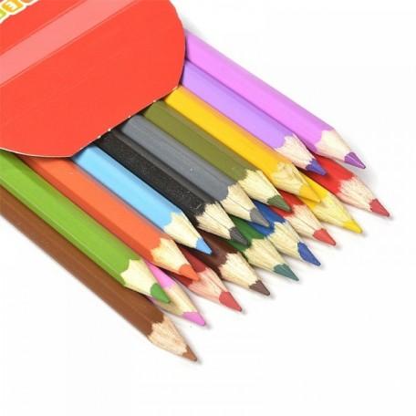 Набор шестигранных карандашей арт.НП.3741187 'Цветик' 2М-4М заточенные 18 цветов