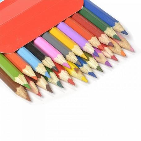 Набор шестигранных карандашей арт.НП.3741188 'Цветик' 2М-4М заточенные 24 цвета