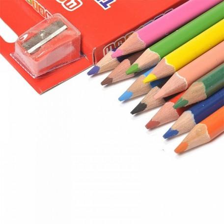 Набор трехгранных карандашей арт.НП.3741166 'Цветик' 12 цветов