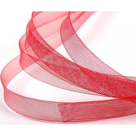 Регилин мягкий арт. MF-15 шир.15мм цв.A08 красный ( рул. 23м )