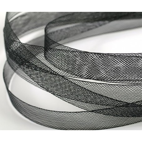 Регилин мягкий арт. MF-15 шир.15мм цв.черный ( рул. 23м )