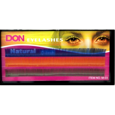 Реснички для кукол 'DON' КЛ.24667 цв.ассорти №М-003 13мм L=9,5 см уп.12 шт.