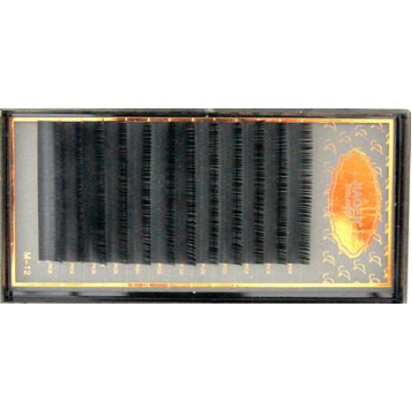 Реснички для кукол 'JIOER' густые КЛ.24668 цв.черный №М-003 12мм L=3,7 см уп.12 шт.