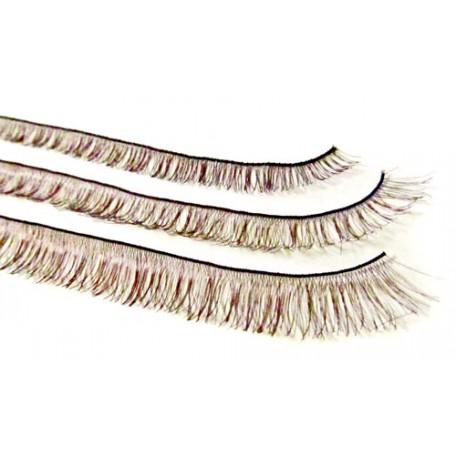 Ресницы для глаз 8мм/20см цв. коричневый