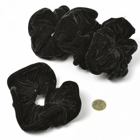 Резинка бархатная для волос арт.MS.AV.RB446 диам.10 см цв.черный упак. 20 шт.