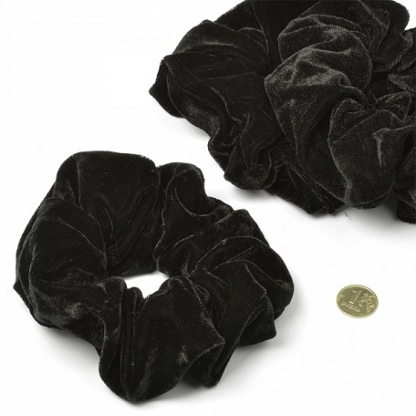 Резинка бархатная для волос арт.MS.AV.RB771 диам.14 см 10 цв.черный упак. 20 шт.