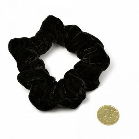 Резинка бархатная для волос арт.TBY.AVR22 цв. черный уп. 20 шт