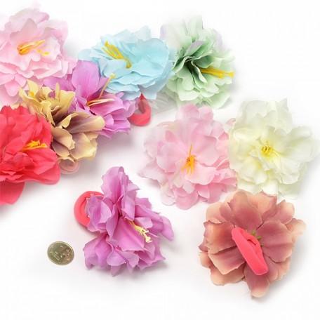 Резинка для волос арт.MS.AVZ.A1741 с цветком диам.6см цв.ассорти упак. 10 шт.