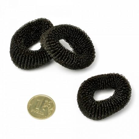 Резинка мохровая для волос TBY.AVRТ22 диам.35 мм уп. 50 шт цв. черный