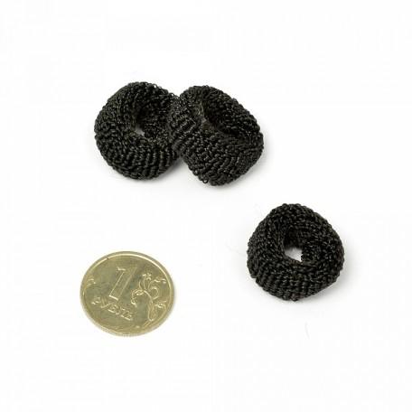 Резинка мохровая для волос TBY.AVRТ25 диам.25 мм уп. 100 шт цв. черный