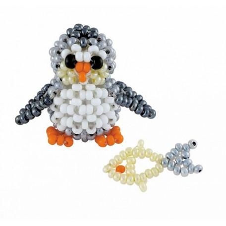 Набор для бисероплетения арт.В-187 'Пингвинёнок с рыбкой' 2,5х2,5 см и 2 см