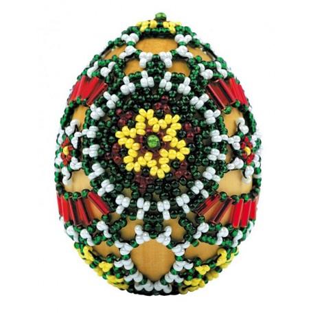 Набор для бисероплетения арт.В-191 Яйцо 'Лужицкие мотивы' 6х4,5 см