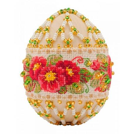 Набор для бисероплетения арт.В-195 'Пасхальное яйцо 'Примула' 6,5х5 см