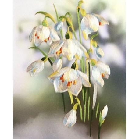 Набор для вышивания 'РИСУЕМ ИГЛОЙ' арт. L-0004 Мини Люкс 'Первенцы весны' (20х25 см)