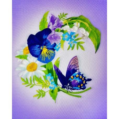 Набор для вышивания 'РИСУЕМ ИГЛОЙ' арт. L-0005 Мини Люкс 'Запах мечты' (20х25 см)