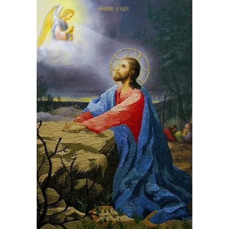 Набор для вышивания 'РИСУЕМ ИГЛОЙ' арт. L-0010 Мини Люкс 'Икона Моление о Чаше' (20х25 см)
