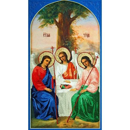 Набор для вышивания 'РИСУЕМ ИГЛОЙ' арт. L-0015 Мини Люкс 'Икона Святая Троица' (20х25 см)