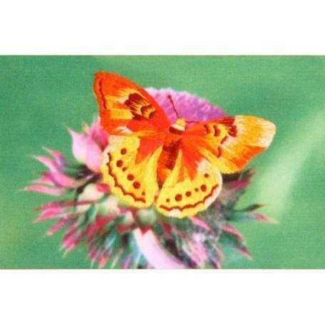 Набор для вышивания 'РИСУЕМ ИГЛОЙ' арт. ML-0002 Мини Люкс 'Золотая бабочка' (10х15 см)