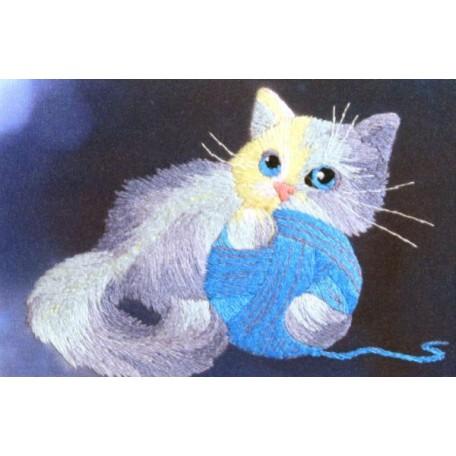 Набор для вышивания 'РИСУЕМ ИГЛОЙ' арт. ML-0007 Мини Люкс 'Волшебный клубочек' (10х15 см)