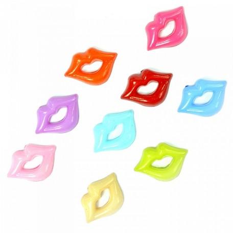 Пластиковые губы для игрушек арт.TBY.D1 ассорти упак 200шт.