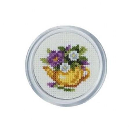 Набор для вышивания арт.MGH03 'Желтый чайник' d-5,5 см