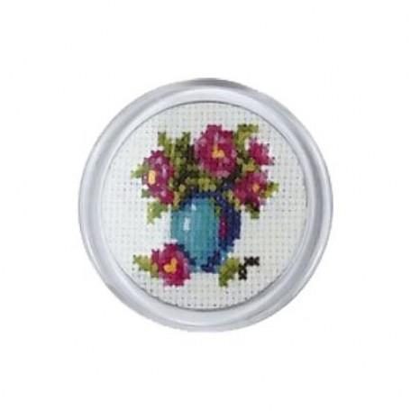 Набор для вышивания арт.MGH06 'Синяя ваза' d-5,5 см