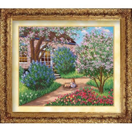 Набор для вышивания бисером 'Русская искусница' арт.1007 'Цветущий сад'