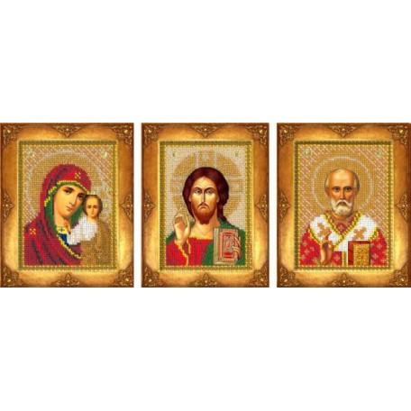 Набор для вышивания бисером 'Русская искусница' арт.103 'Три маленькие иконы'