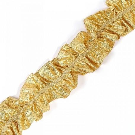 Лента 'Рюш' траурная арт.с3056г17т/2 рис.6817 шир.40 мм цв. св.золото уп.25м