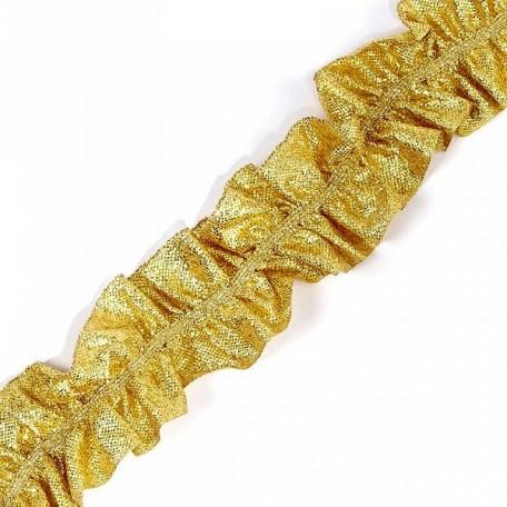 Лента 'Рюш' траурная арт.с3056г17т/2 рис.6817 шир.40 мм цв. золото уп.25м