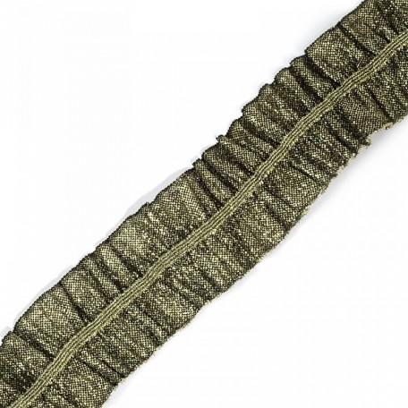 Лента 'Рюш' траурная арт.с3056г17т/4 рис.6817 шир.40 мм цв. т.золото уп.10м