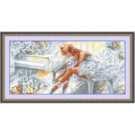Набор для вышивания 'Сделай своими руками' арт.ССР.Б-12 Балерина 57х27 см