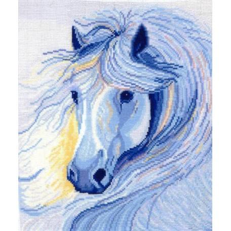 Набор для вышивания 'Сделай своими руками' арт.ССР.Б-14 Белогривая лошадь 26х28 см