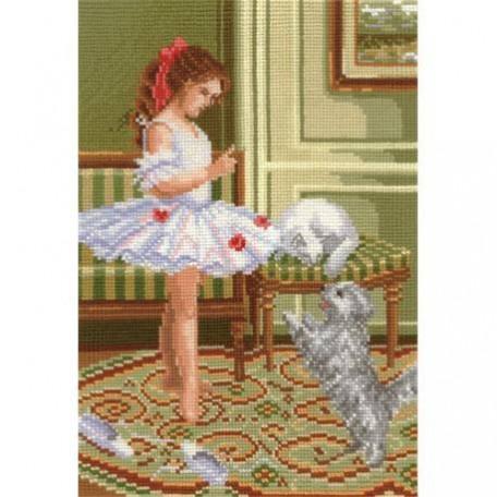Набор для вышивания 'Сделай своими руками' арт.ССР.В-14 В балетном классе 18х26 см