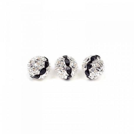 Бусины TESОRO арт.TS-E8715-05 цв.1 черный/серебро 10 мм in d-1 мм