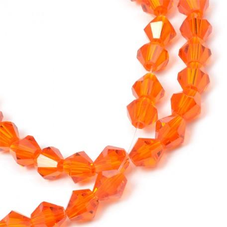 Бусины граненые Биконус(стекло) на нитях арт.TBY-K-1 6мм цв.22 (50 бусин)