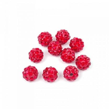 Бусины Шамбала TBY SHN.10 цв. 1 красный d-10мм