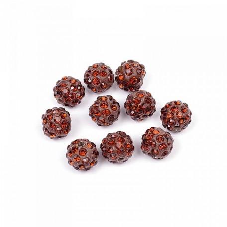 Бусины Шамбала TBY SHN.10 цв.11 шоколадный d-10мм